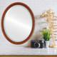 Flat Mirror - Pasadena Oval Frame - Vintage Walnut