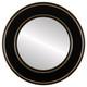 Flat Mirror - Marquis Circle Frame - Rubbed Black