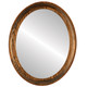 Flat Mirror - Vancouver Oval Frame - Toasted Oak