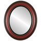 Flat Mirror - Lancaster Oval Frame - Vintage Cherry