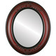 Flat Mirror - Winchester Oval Frame - Vintage Cherry