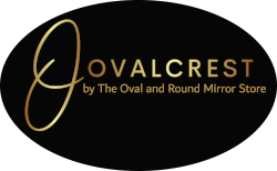 OVALCREST  by The Oval & Round Mirror Store