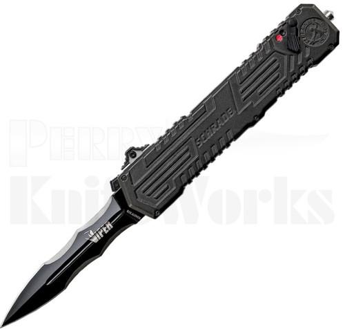 Schrade Viper 3rd Gen OTF Assisted Knife l Black Blade l SCHOTF3CB