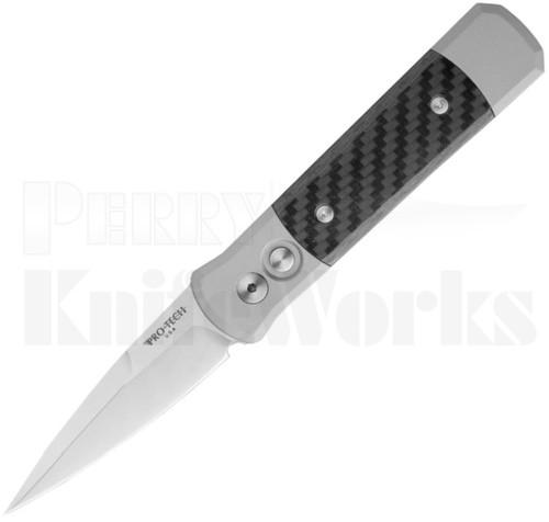 Protech Godson Automatic Knife Gray/Carbon Fiber 700CF