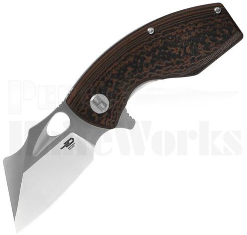 Bestech Knives Lizard Linerlock Knife Black/Orange G-10 l BG39A l For Sale