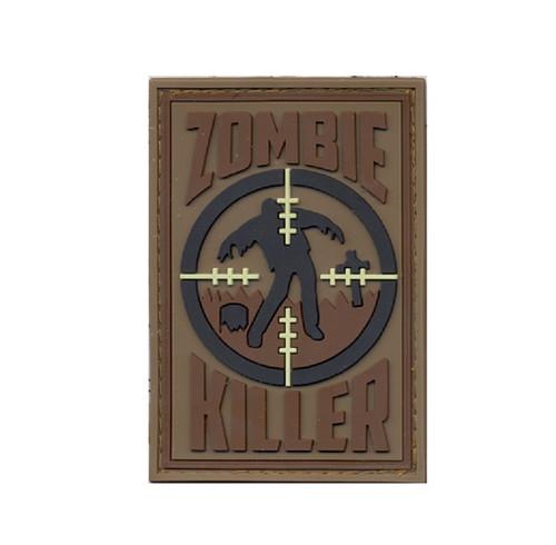 Rothco PVC Zombie Killer Morale Patch (Brown & Black)