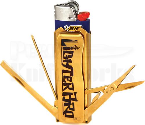 Lighter Bro Multi Tool Bottle Opener (Gold)