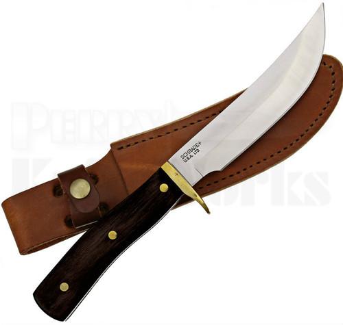 Schrade USA Woodsman Pakkawood Fixed Blade Knife (Satin)