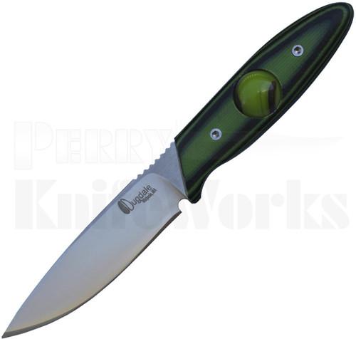 Dan Dugdale Custom Marble Neck Knife Green/Black