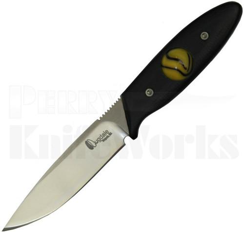 Dan Dugdale Custom Marble Neck Knife Smooth Black G10