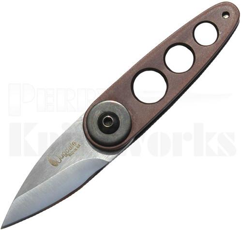 Dan Dugdale Custom 180X2 Folder Knife Maroon Aluminum