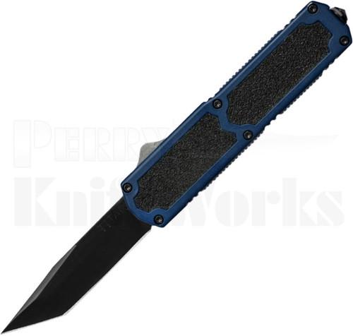 Titan Blue D/A OTF Automatic Knife Black Tanto