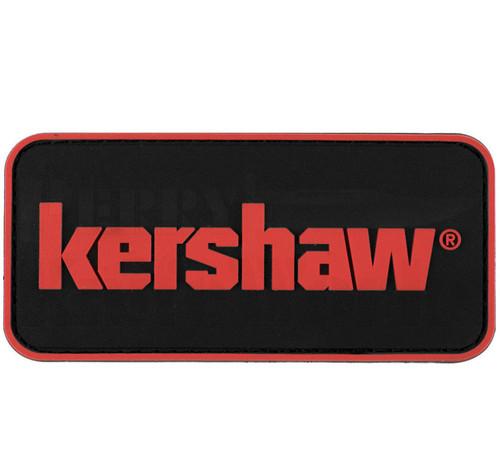 "Kershaw 3"" x 1.5"" Red & Black PVC Patch"