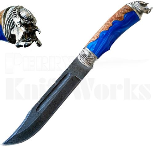 Igor Alexandrov Predator Fixed Blade Knife l Damascus Blade
