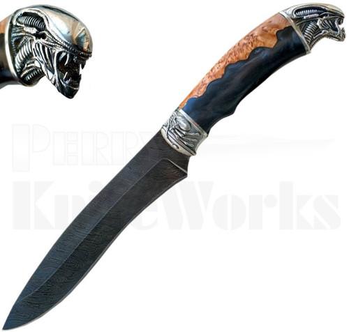 Igor Alexandrov Alien Fixed Blade Knife l Damascus Blade