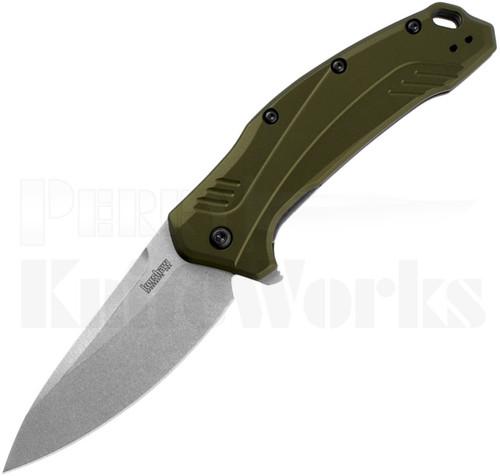 Kershaw Link Linerlock Knife Green 1776OLSW
