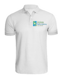 Anglesey Primary White Unisex Polo Shirt