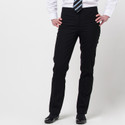 Girls Senior Slim Fit Black Trousers (DL965)