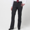 Girls Senior Regular Fit Black Trousers (DL968)