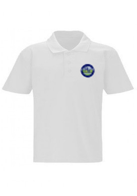 River View Primary White Unisex Polo Shirt