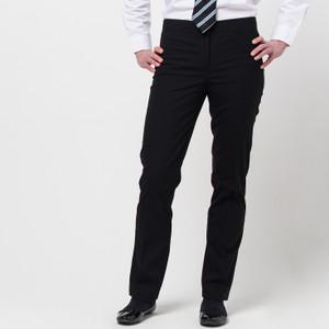 Girls Senior Slim Fit Black Trousers (DL965)