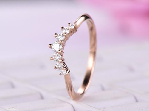 Tiara Wedding Ring VS H Diamond 14K Rose Gold