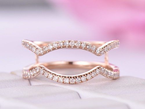Diamond Ring Guard 14K Rose Gold