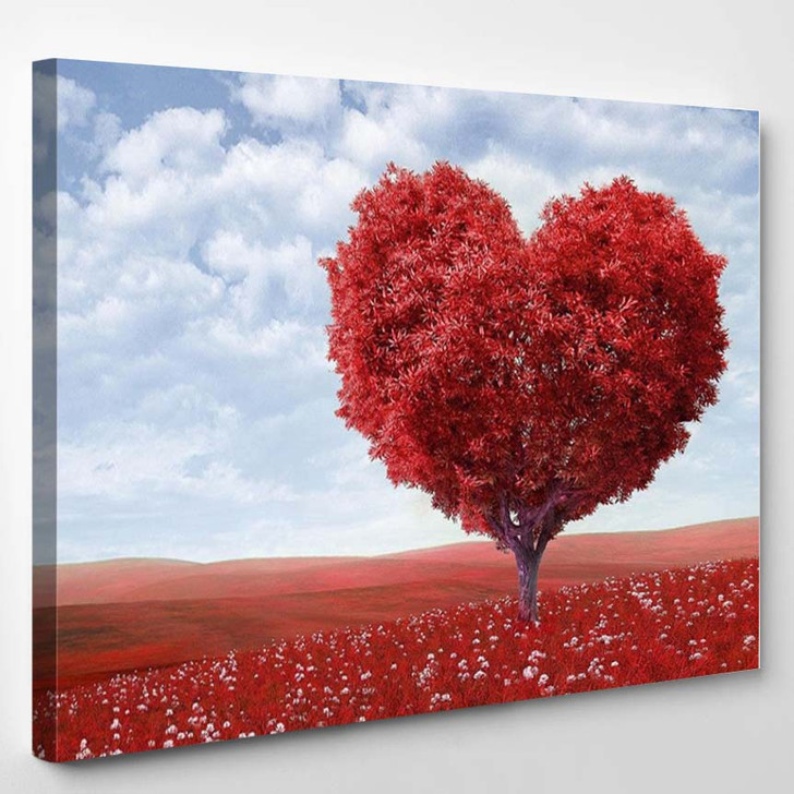 Tree In The Shape Of Heart 2 - Nature Canvas Art Print