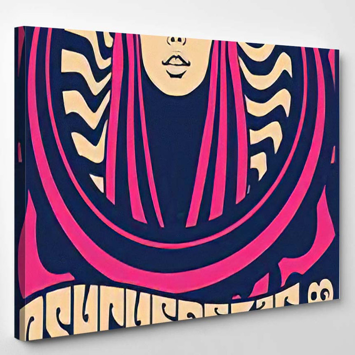 1960S 1970S Psychedelic Art Poster Hippie - Psychedelic Canvas Art Print