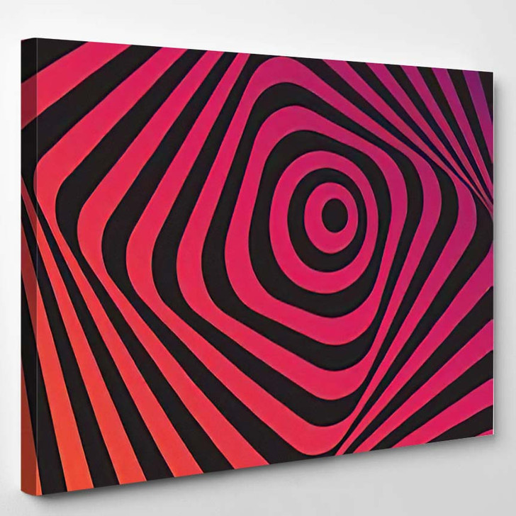 Abstract Background Movement Effect - Psychedelic Canvas Art Print