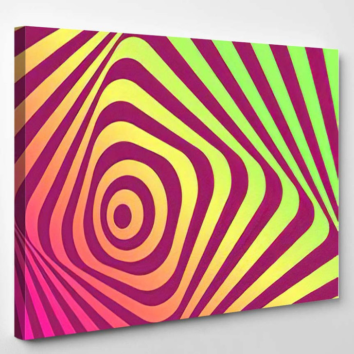 Abstract Background Movement Effect 1 - Psychedelic Canvas Art Print