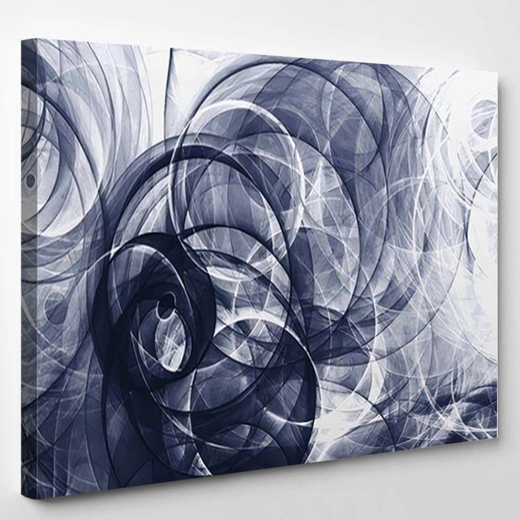 Abstract Background Psychedelic Colored Penciled Generated - Psychedelic Canvas Art Print