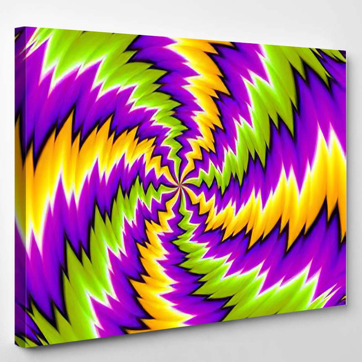 Abstract Colorful Illusion - Psychedelic Canvas Art Print