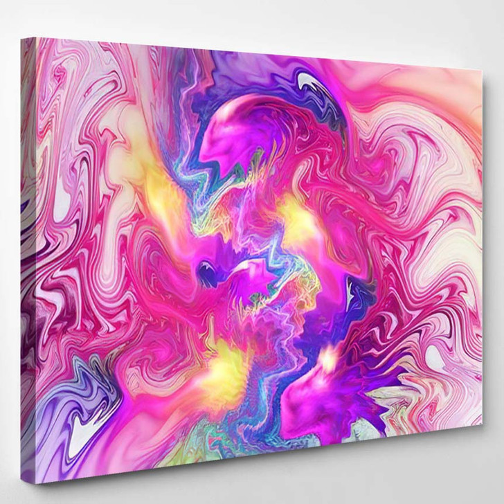 Abstract Fantasy Swirly Texture Psychedelic Fractal - Psychedelic Canvas Art Print