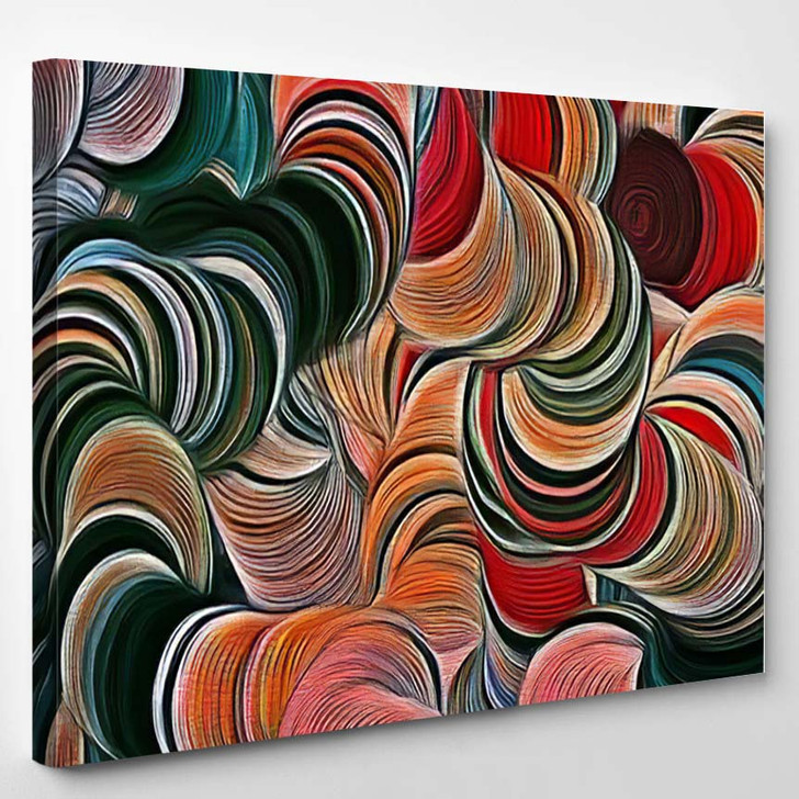 Abstract Fractal Psychedelic Shape Texture Color 2 - Psychedelic Canvas Art Print