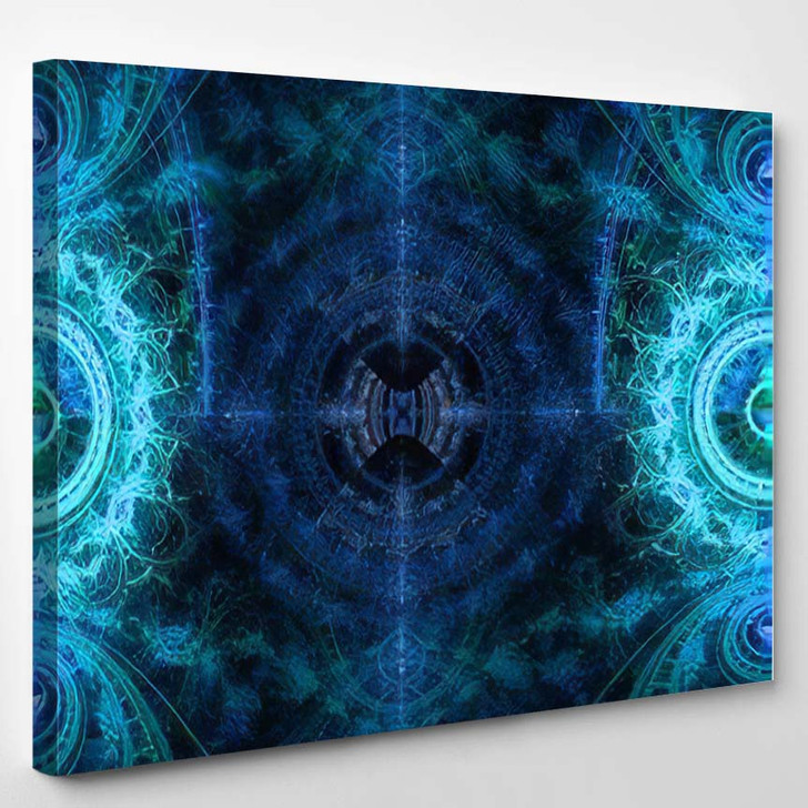 Abstract High Resolution Background Crazy Circular - Psychedelic Canvas Art Print