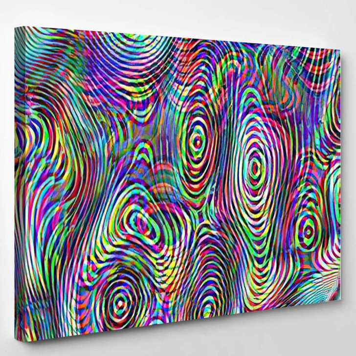 Abstract Multicolor Psychedelic Background - Psychedelic Canvas Art Print