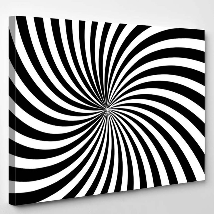 Abstract Optical Illusion Background Vector Design - Psychedelic Canvas Art Print