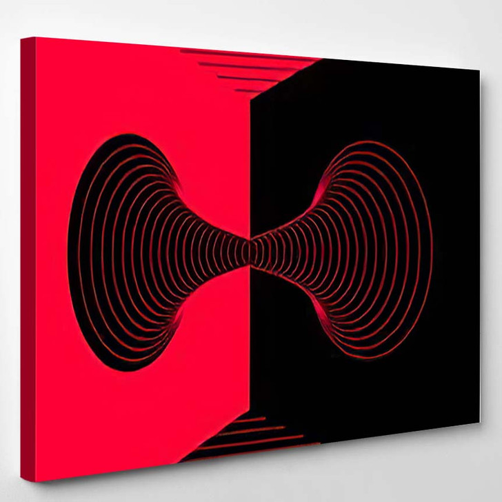 Abstract Psychedelic Background Futuristic Surreal Geometric 1 - Psychedelic Canvas Art Print