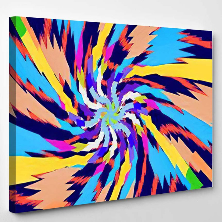 Abstract Psychedelic Pattern Vector - Psychedelic Canvas Art Print