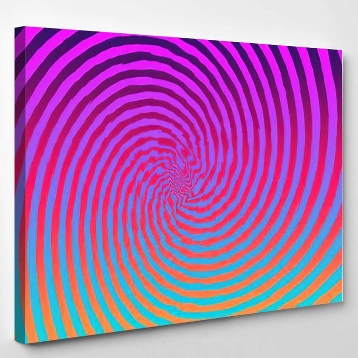 Abstract Psychedelic Spiral Background Image - Psychedelic Canvas Art Print