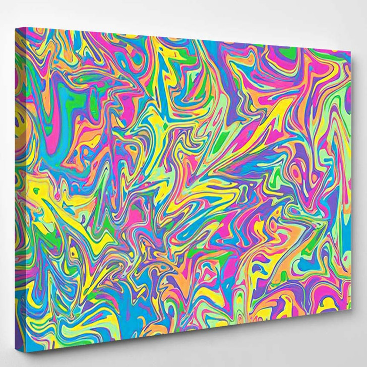 Abstract Psychedelic Wavy Background Image - Psychedelic Canvas Art Print