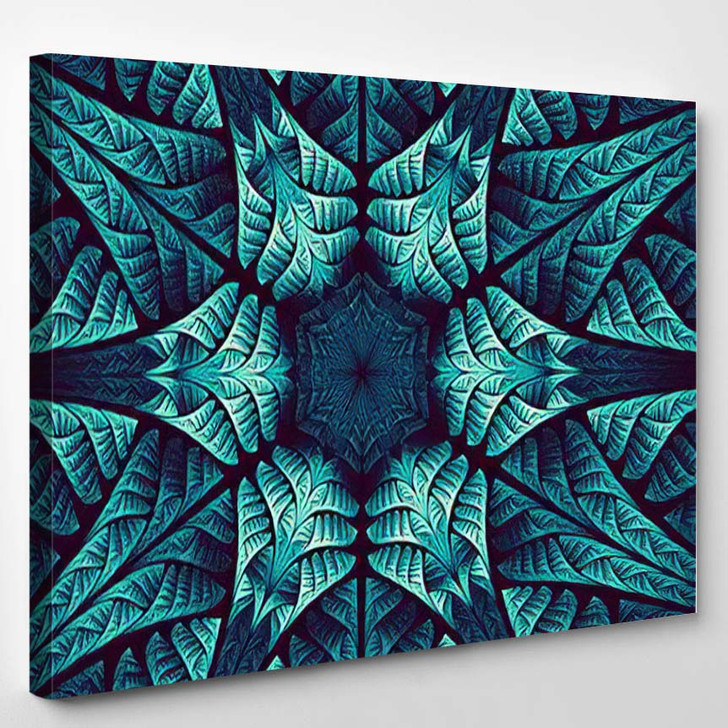 Abstract Wallpaper Fractal Art Background Creative 1 - Psychedelic Canvas Art Print