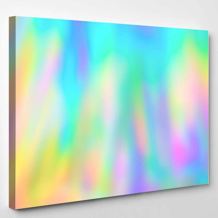 Blurred Holographic Psychedelic Streaks Texture Background 1 - Psychedelic Canvas Art Print
