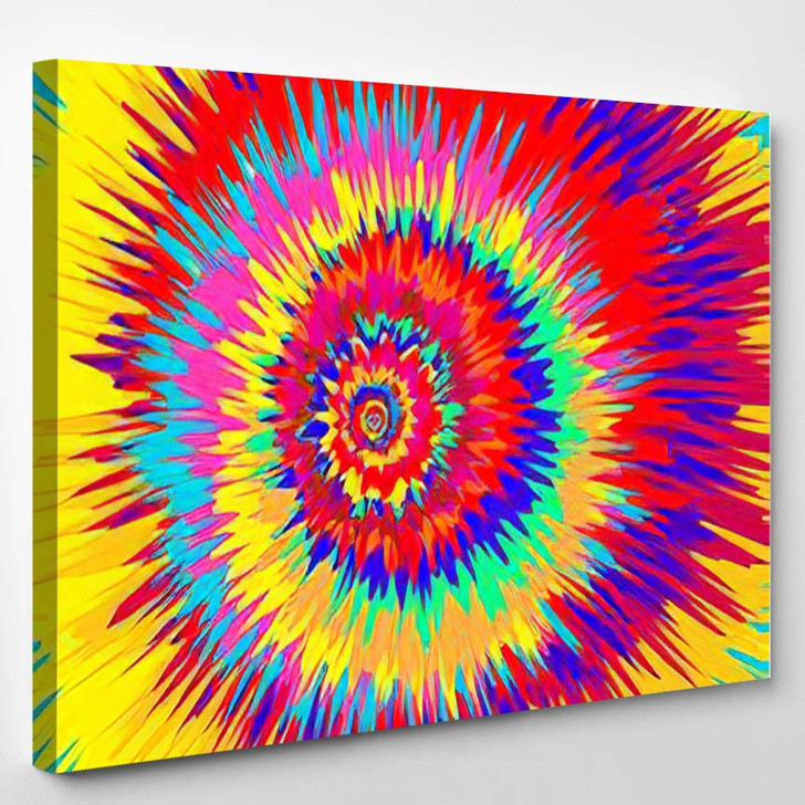 Colorful Abstract Psychedelic Art Background Vector - Psychedelic Canvas Art Print