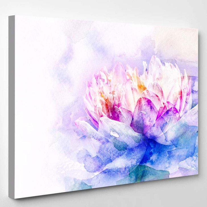 Watercolor Painting - Abstract Canvas Art Print
