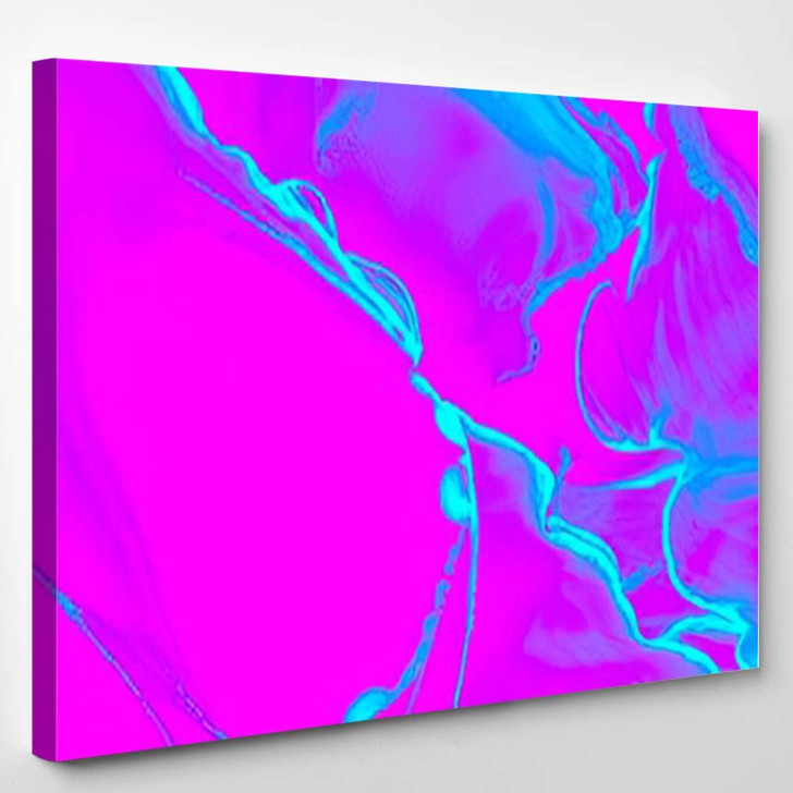 Mystic Watercolor Pink Urban Template Psychedelic - Psychedelic Canvas Art Print