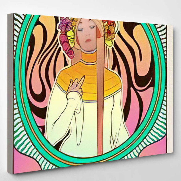 No Love Vector Psychedelic Poster 1960S - Psychedelic Canvas Art Print