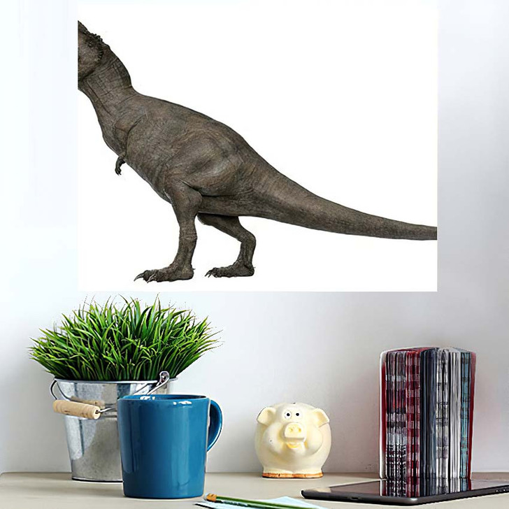 3D Rendered Trex Tyrannosaurus Rex 10 - Godzilla Animals Poster Art