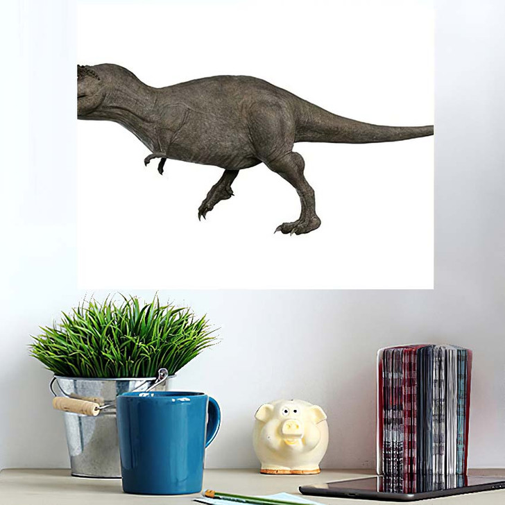 3D Rendered Trex Tyrannosaurus Rex 11 - Godzilla Animals Poster Art